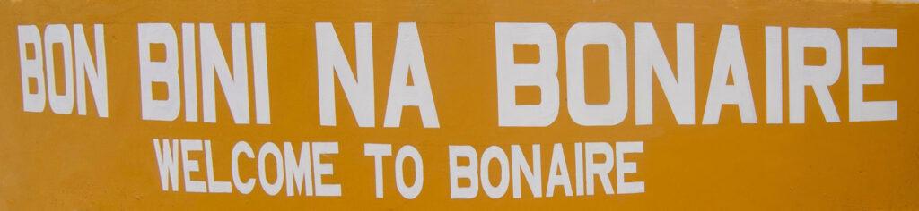 Wandschildering Bon Bini Na Bonaire smal