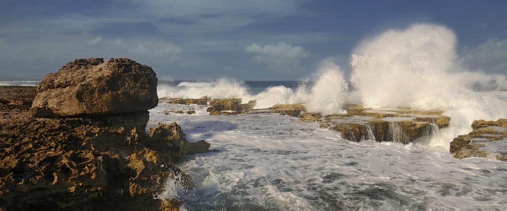 De ruige oostkust van Bonaire
