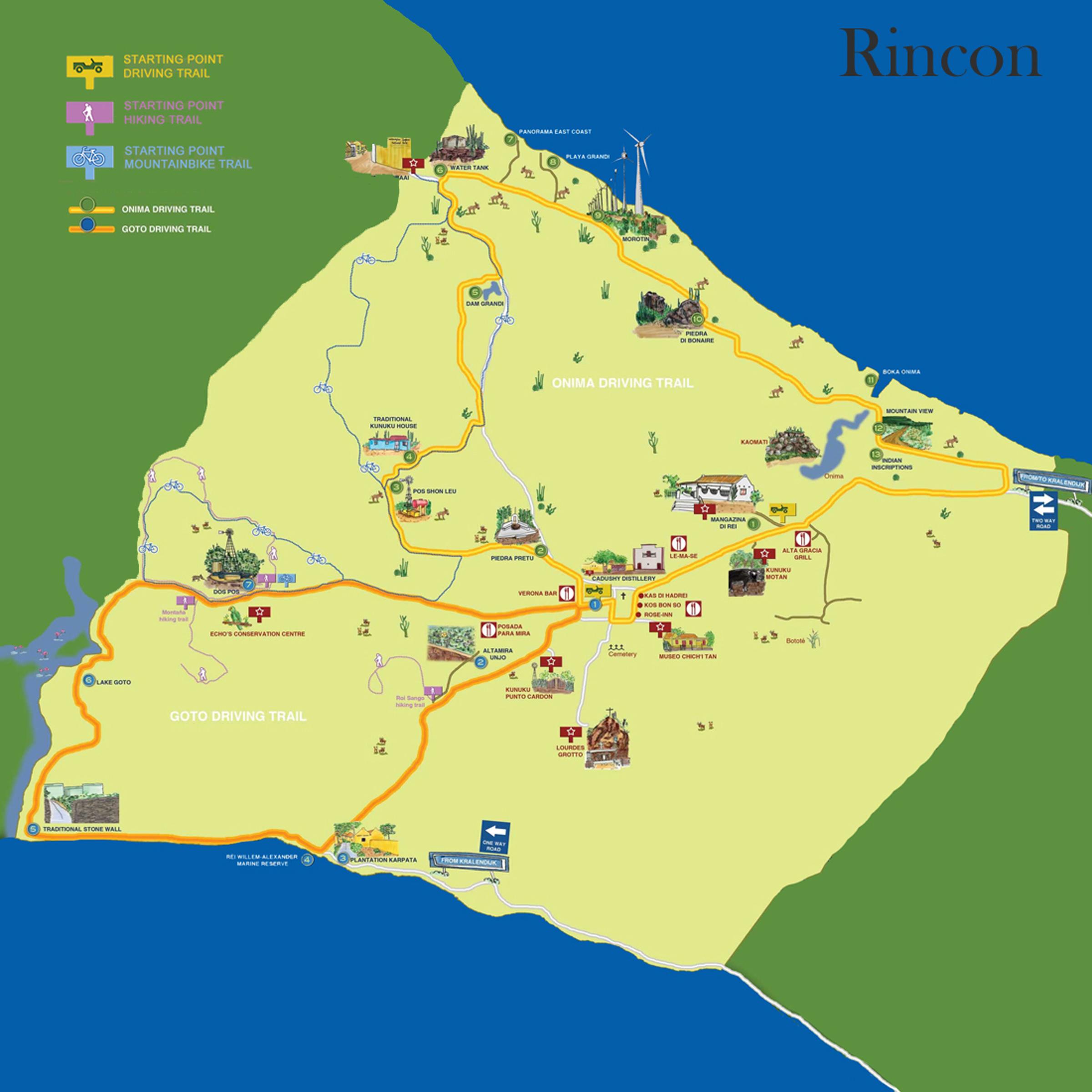 Rincon Autoroutes Kaart