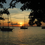 Sunset Kralendijk richting Klein Bonaire