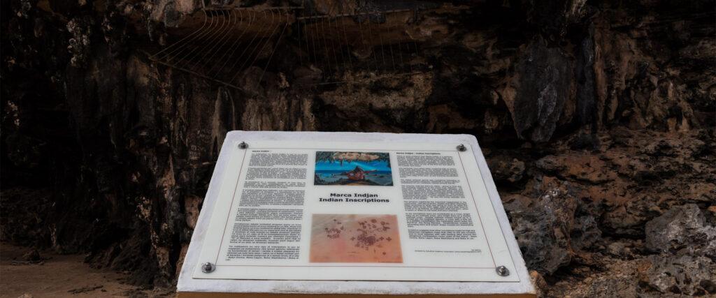 Rotstekeningen indianen Bonaire